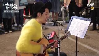 """پشت صحنه ای از جونگ شین در سریال """"سیندرلا و 4 شوالیه"""""""