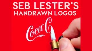 کشیدن لوگوی شرکت های معروف با دست