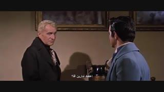 """سکانسی از فیلم """"خانه آشر"""" ؛ که در آن، """"رادریک آشر"""" به معرفیِ سبعیت """"خاندان آشر"""" میپردازد."""
