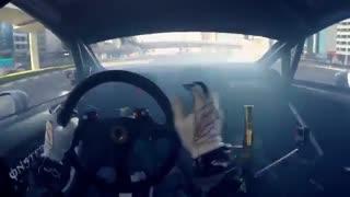 حرکات زیبای کن بلاک با ماشین  در دبی