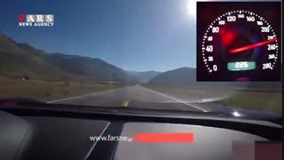 سرعت 370 کیلومتری با بوگاتی!