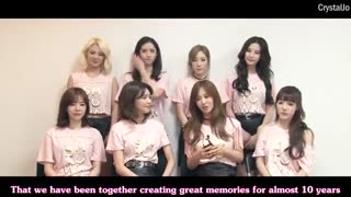 Girls' Generation (snsd) Debut 9th Anniversary Message