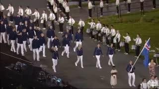 رژه کاروان کشور هند در مراسم افتتاحیه المپیک ریو