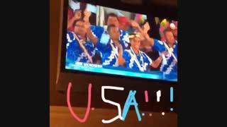 رژه کاروان کشور آمریکا در مراسم افتتاحیه المپیک ریو