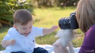 آموزش عکاسی کودک در پارک و حین بازی