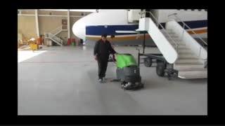 نظافت و شستشو کف فرودگاه ها  با دستگاه های پیشرفته زمین شوی-اسکرابر