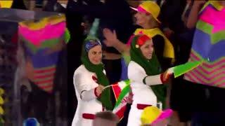 لحضه ورود تیم ایران به المپیک ریو