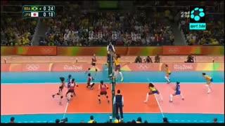 برزیل (زنان) ۳-۰ ژاپن (زنان)
