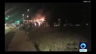 درگیری پلیس و معترضان در میلواکی امریکا