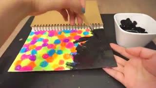ایده دفتر رنگین کمانی جالب