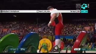 حرکت یک ضرب وزنه برداری سنگین وزن ۱۱۰ کیلو : شکستن رکورد جهان و المپیک توسط بهداد سلیمی