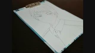 نقاشی من از اکاشی /انیمه کوروکو نو بسکت (البته اگه خودش باشه)