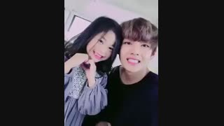 bts v and little girl یعنی چقدر خوش شانسه شرفن  جانم