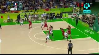 نیمه نهایی بسکتبال بانوان : فرانسه ۶۷-۸۶ امریکا