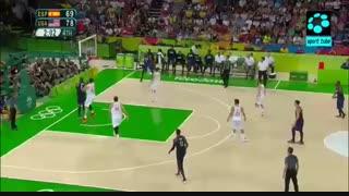 نیمه نهایی بسکتبال مردان : اسپانیا ۷۶-۸۲ امریکا