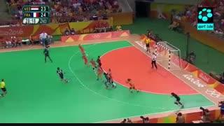 نیمه نهایی هندبال زنان : فرانسه ۲۴-۲۳ هلند