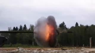 وضعیت عملیاتی تانک تی 90 با سرعت 18 هزار فریم در ثانیه