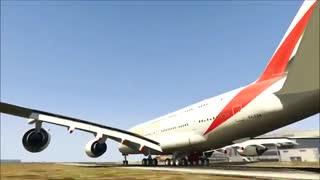 ویدئوی هواپیمای Airbus A380-800 بازی GTA V