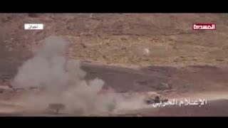 لحظه انهدام خودروهای متجاوزان سعودی