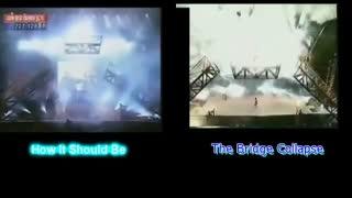 صحنه سقوط جرثقیل مایکل (27 ژوئن 1999)