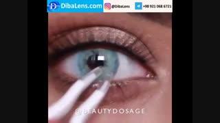 لنز ایلوژن  اوشن بلو| DibaLens.com- Ocean Blue