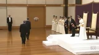 آغاز سلطنت جدید ژاپن شاهزاده ناروهیتو دیروز سلطنت خود را به نام ریوا آغاز کرد