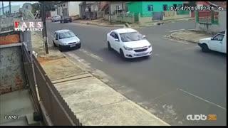 تصادف وحشتناک یک موتورسوار