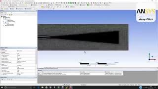 شبیه سازی جریان خروجی جت با استفاده از جریان گردابه بزرگ در ansys fluent