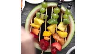 روش هایی خلاقانه و جدید برای تزئین و سرو میوه