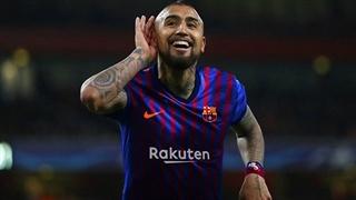 گل اول بارسلونا به ختافه توسط  ویدال