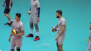 لحظات جذاب و دیدنی از تمرین تیم ملی والیبال مردان ایران