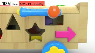 آموزش رنگ ها و اشکال هندسی به صورت فارسی و انگلیسی به کودکان