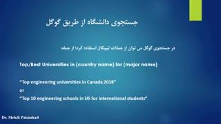 با روش های جستجو و شناسایی دانشگاه ها آشنا شوید.
