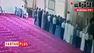لحظه جاندادن نمازگزار روزهدار در مسجد