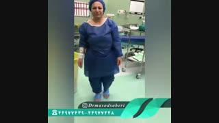 فیلم راه رفتن بیمار قبل از عمل تعویض مفصل زانو