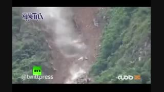 ریزش هولناک کوه در چین